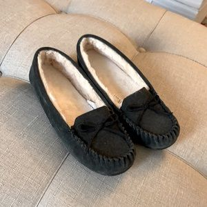 Hard bottom slippers Dark Grey size 7/8